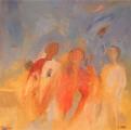 Muurschildering Pompeji  100 x 100